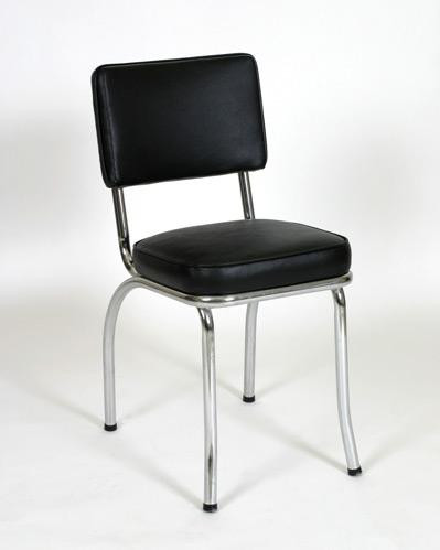 Classic Diner Chair 1 in black vinyl | Seats and Stools & 50u0027s Diner Chairs | Retro Chrome Chairs | Seats u0026 Stools