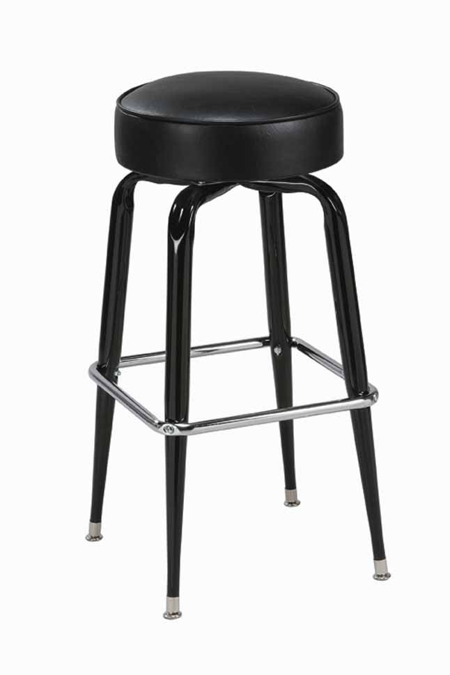 Square Base Bar Stool Round Seat Stool Seats And Stools