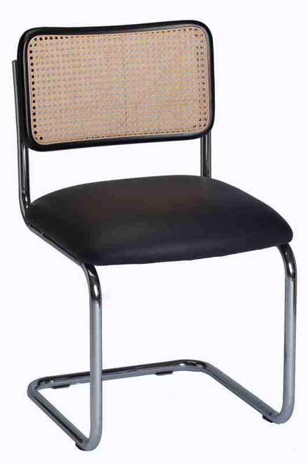Seats And Stools Custom Breuer Chair Shown As Side Chair, With Black Vinyl  Slip Style