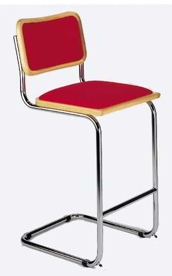 Seats And Stoolsu0027 Classic Breuer Bar Stool Is Pictured With Upholstered  Seat And Back In