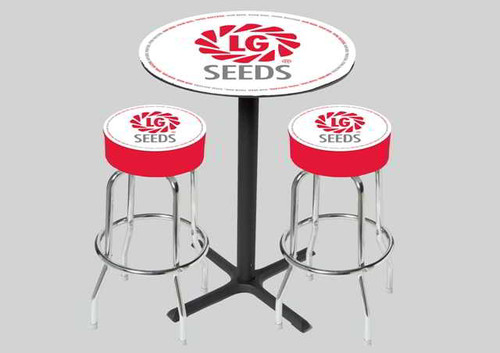 Logo Bar Stool Table Set