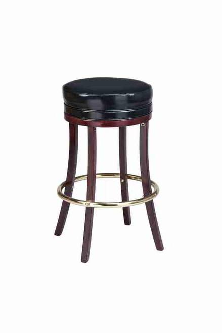 Backless Wooden Bar Stool Round Wood Bar Stool
