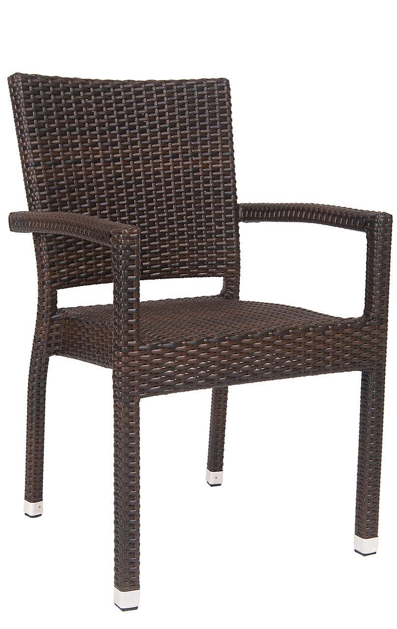 Wicker Dining Chairs With Arms Outdoor Dining Arm Chairs