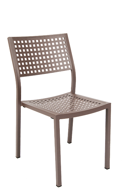 Aluminum Outdoor Patio Chairs Open Back Dining Chairs