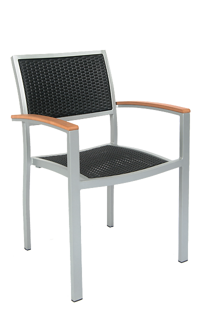 Quincy Outdoor Aluminum Armchair Seats And Stools