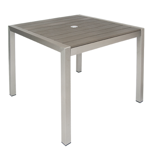 Aluminum Outdoor Dining Table Gray Outdoor Table