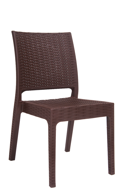 Furnish Your Outdoor Seating Area This Summer With Our Wicker Look Resin  Chair In Brown
