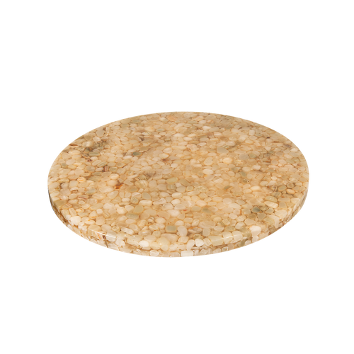 Delicieux Round Indoor Resin Table Top With Stone Filling For Commercial Use.