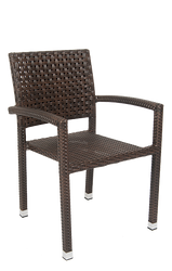 Outdoor aluminum/poly-woven armchair for your home, bar or restaurant.