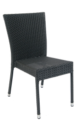 Outdoor aluminum/synthetic wicker chair (armless) for your home, restaurant or bar.