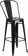 French-Inspired Industrial Galvanized Bar Stool