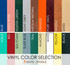 Vinyl color selection for Square Bar Stool Base with Head-on-Head Nail Trim | Seats and Stools