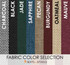 Fabric color selection for Square Bar Stool Base with Head-on-Head Nail Trim | Seats and Stools