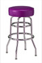 "Retro Double Ring Bar Stool with Round Seat, 16"" seat size 