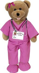 Hospital Female Scrubs Singing Bear