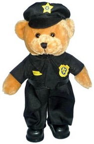 "Police Officer Dancing/Singing ""Bad Boys, Bad Boys"" Bear"