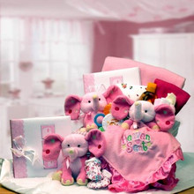 A Baby Is Heaven Sent  Gift Basket - Pink