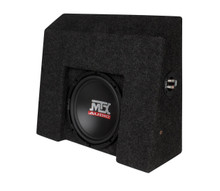 "MTX ThunderForm 2007-2016 CHEVY Silverado GMC Sierra Crew Cab LOADED 10"" Sub Box"