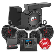 MTX RZRSYSTEM3 Four Speaker, Dual Amplifier, Subwoofer Polaris RZR Audio System