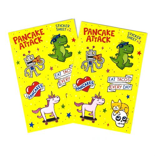 Pancake Attack Sticker Sheets
