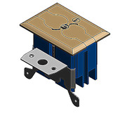 Carlon B121BFBB - Adjustable Floor Box Kit with Brass Cover