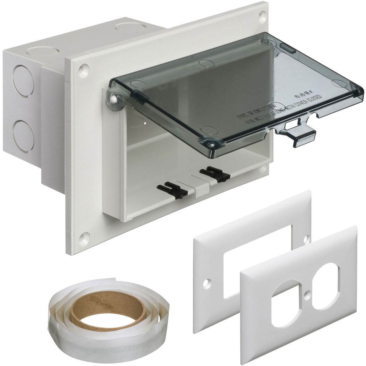 Arlington Dbhr1c Horizontal Recessed In Box For Retrofit Construction With Clear Cover