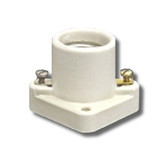 Leviton 19062 - 1-Piece Pony Cleat Porcelain Keyless Medium Base Lampholder