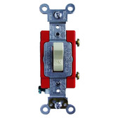 Leviton 1221-LHI - 20A, 120V Toggle Lighted Handle-Illuminated OFF Single-Pole AC Quiet Switch
