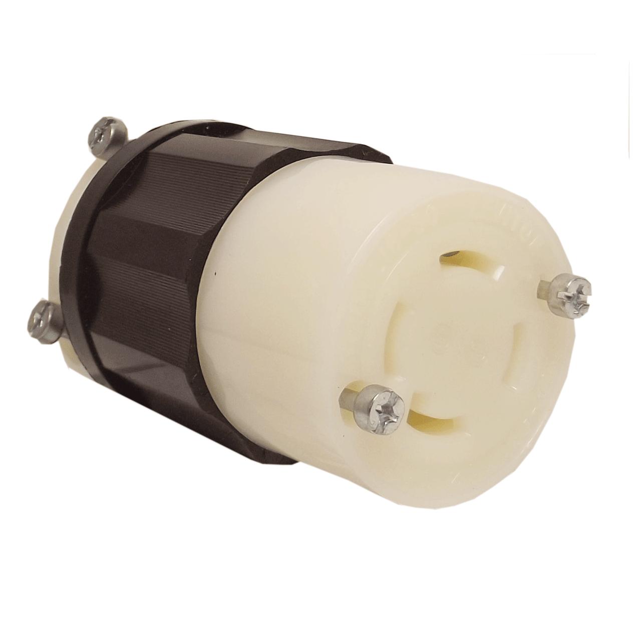 Leviton 2713 30 amp 125 250 volt 3 pole locking connector for 150 amp service entrance cable