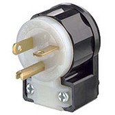 Leviton 5366-CA - 20 Amp 125 Volt 2 Pole Straight Blade Plug (Angle)