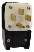 Leviton 9452-P - 50 Amp, 125/250 Volt 3 Pole Straight Blade Plug