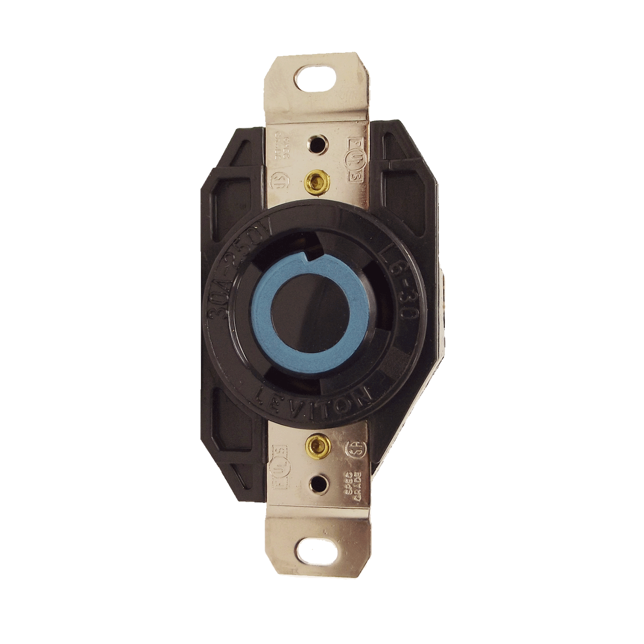 Leviton 2750 - 30 Amp 125/208 Volt 3 Phase/Y 4 Pole Flush ...