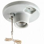 Leviton 29816-C - Pull Chain Porcelain Fixture