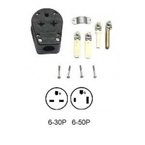 Leviton 931 - 30/50A, 250V NEMA 6-30P/6-50P, 2P, Straight Blade Plug