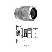 T&B 2524TB - 1/2in. (.500-.625) Liquidtight Strain Relief Cord Connector
