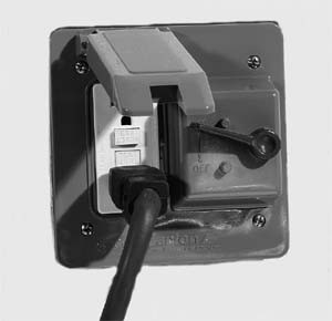 Carlon E9G2GTN-CAR - 2-Gang Weatherproof Combination  Toggle/GFI Switch Cover