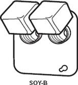 "Bussmann SOY-B - 4"" Square Box Cover Unit"