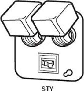 bussmann sty 4 square box cover unit