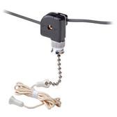Leviton 10097-8 - 3A, 125V AC-L/1A, 125VT/1A, 250V Single Pole Pull Chain Appliance Switch