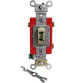 Leviton 1223-2LI - 20A, 120/277V Toggle Locking 3-Way AC Quiet Switch