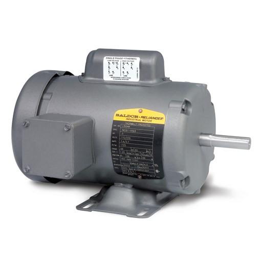 Baldor motor l3408 5hp 1ph 3450rpm frame 48 tefc for Baldor single phase motor