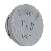 "T&B 1454 - 1-1/4"" Non-Metallic Thermoplastic Knockout Plug"