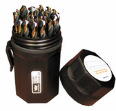 "Norseman SPM29-P - 1/16"" to 1/2"" by 64ths Mechanics Length Black & Gold Magnum Drill Set"