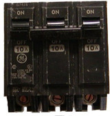 GE TQL32010 - Circuit Breaker, 10 Amps 3 Poles 240 Vac
