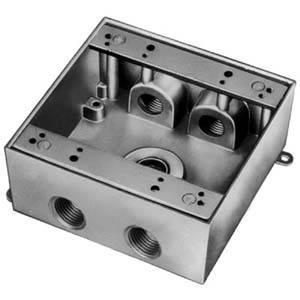 T&B 2IHD5-1 - RedDot Dry-tite 2Gang Deep Outlet Box