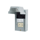 Midwest UO65P010WR/TR - 60 Amp Single-Phase AC Disconnect Pullout w/15 Amp Weather Proof/Tamper Proof GFCI Receptacle