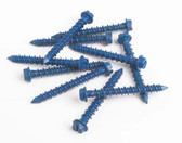 "Fasteners 1/4X21/4 HHCS - 1/4"" x 2-1/4"" Hex Head Concrete Screws - 100 Pack"