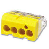 Ideal 30-1034 - 4 Port Push-In Wire Connector