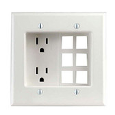 Leviton 690-W -  Residential Grade 2 Gang Recessed Duplex Receptacle