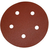 "PORTER CABLE 735502225 - 5"" 220 Grit Hook and Loop Sanding Discs 25PK"